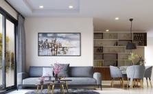 mẫu thiết kế phòng khách nhà chung cư hiện đại đơn giản