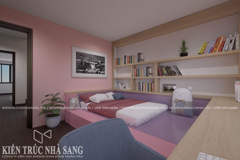 mẫu thiết kế phòng ngủ trẻ em nhà phố