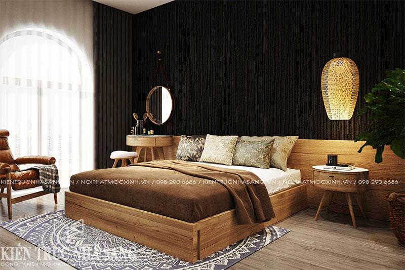 mẫu thiết kế thi công phòng ngủ hiện đại nhà 6x10m