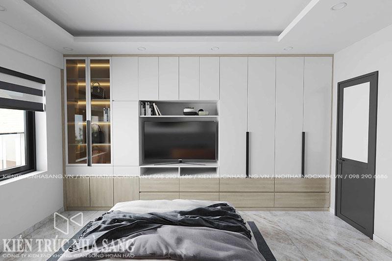 thi công nội thất gỗ công nghiệp chống ẩm An Cường phủ melamine
