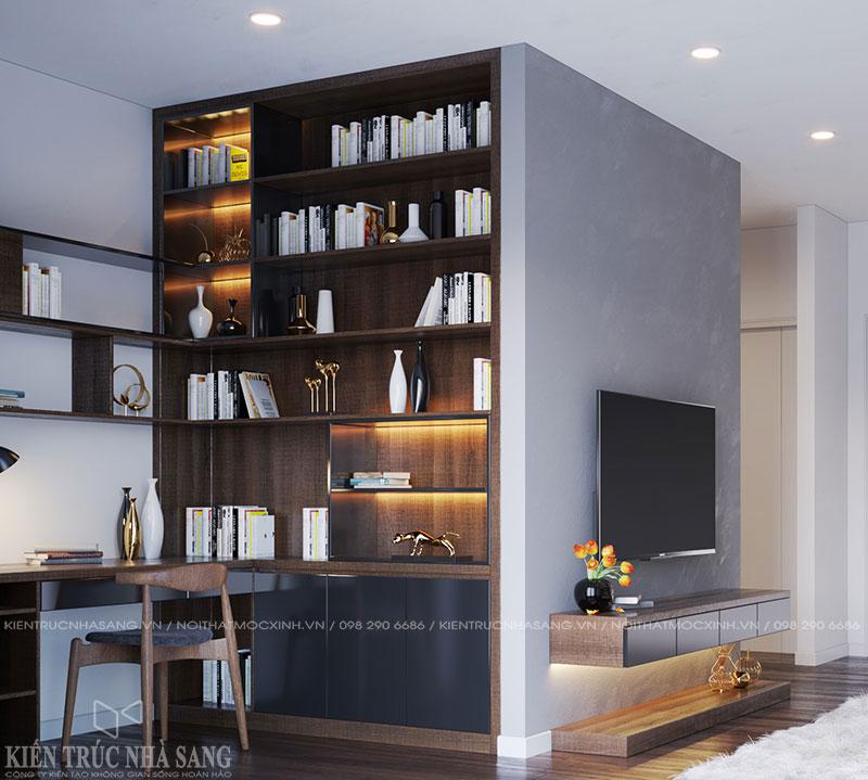 thiết kế nội thất góc làm việc tại nhà đơn giản