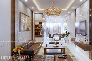thiết kế nội thất nhà 1 tầng 2 phòng ngủ