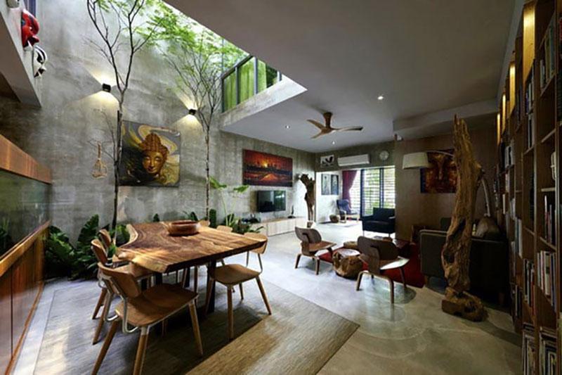 thiết kế nội thất nhà 2 tầng mái thái