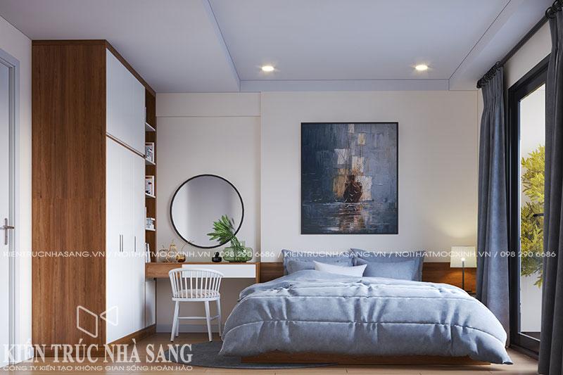 thiết kế nội thất phòng ngủ nhà 80m2 kosmo