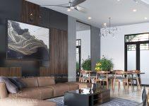 thiết kế nội thất tầng 1 nhà phố 4 tầng hiện đại