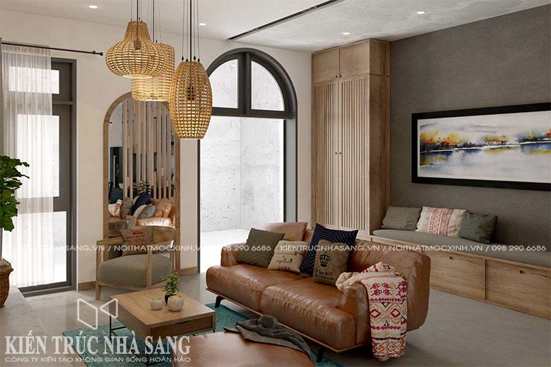 thiết kế thi công nội thất nhà 6x10m 3 tầng