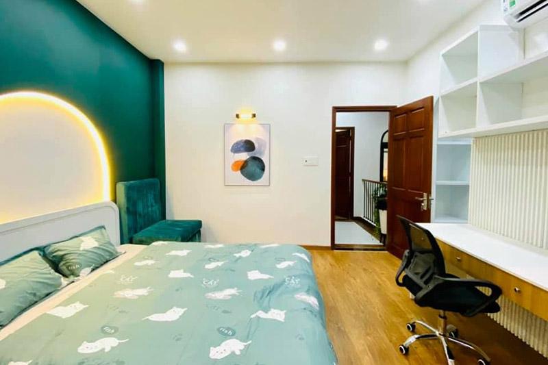 không gian nội thất phòng ngủ nhà phố 5x15m