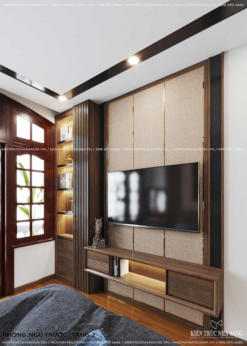 mẫu kệ tivi phòng ngủ nhà 40m2