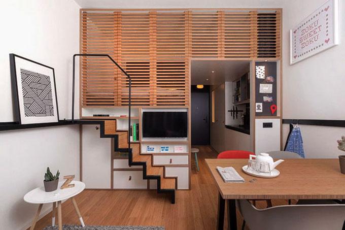 mẫu nội thất nhà 15m2 hiện đại