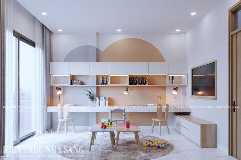 mẫu nội thất phòng học nhà phố hiện đại