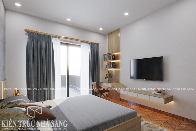 mẫu nội thất phòng ngủ bố mẹ nhà phố hiện đại