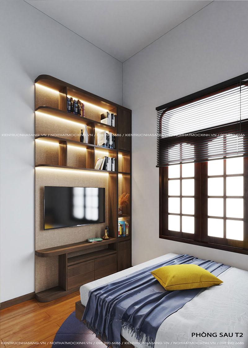 mẫu nội thất phòng ngủ đơn giản nhà 40m2