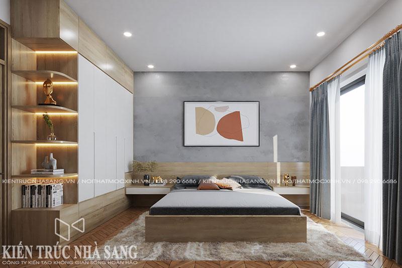 mẫu nội thất phòng ngủ hiện đại nhà phố