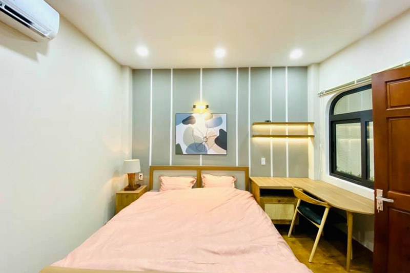 mẫu nội thất phòng ngủ nhỏ nhà 5x15m
