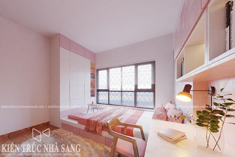 mẫu nội thất phòng ngủ trẻ con nhà ống