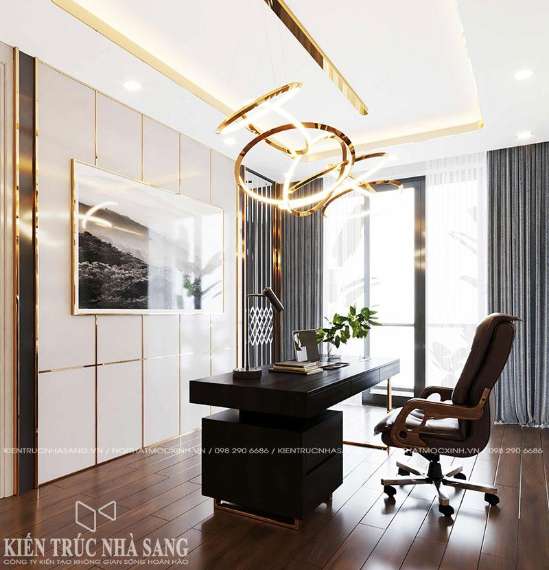 mẫu phòng làm việc luxury nhà phố