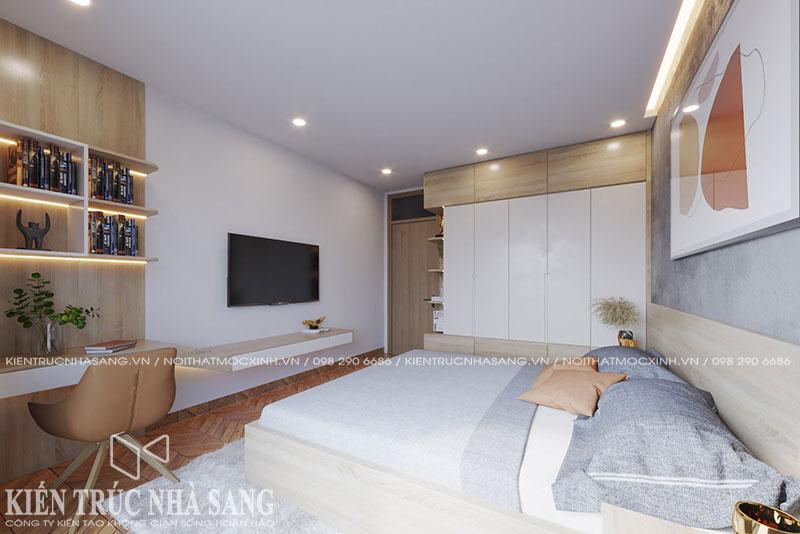 mẫu phòng ngủ nhà ống hiện đại