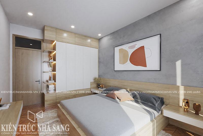 mẫu thi công nội thất phòng ngủ master nhà phố