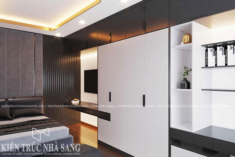 mẫu thiết kế nội thất phòng ngủ nhà 50m2