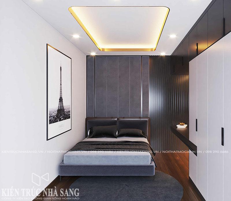mẫu thiết kế phòng ngủ luxury nhà 50m2