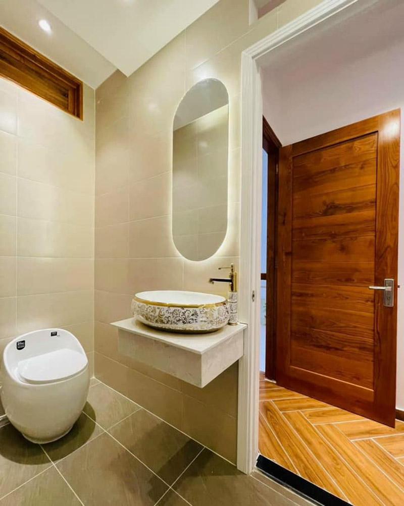 thi công phòng vệ sinh nhà phố 4.5x9m