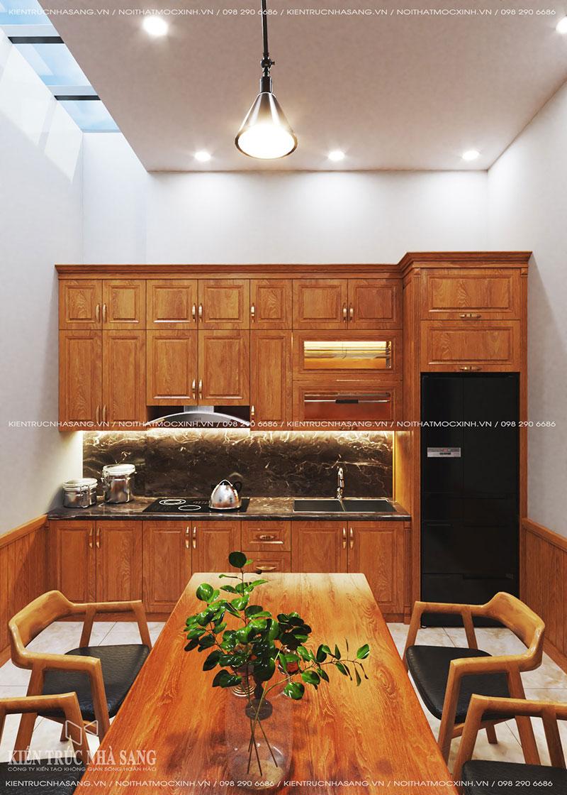 thiết kế nội thất bếp nhà phố 40m2
