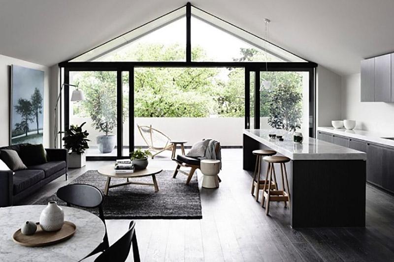 thiết kế nội thất nhà 1 tầng hiện đại