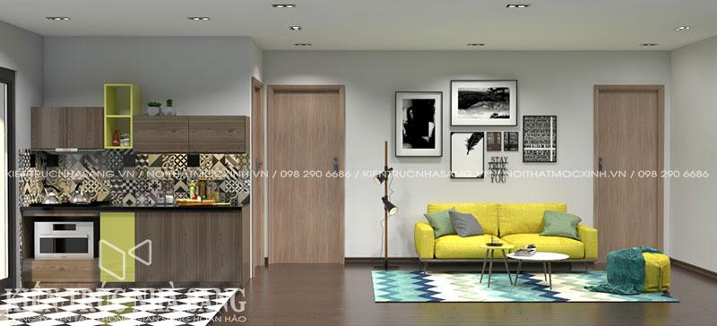 thiết kế nội thất nhà 60m2 hiện đại