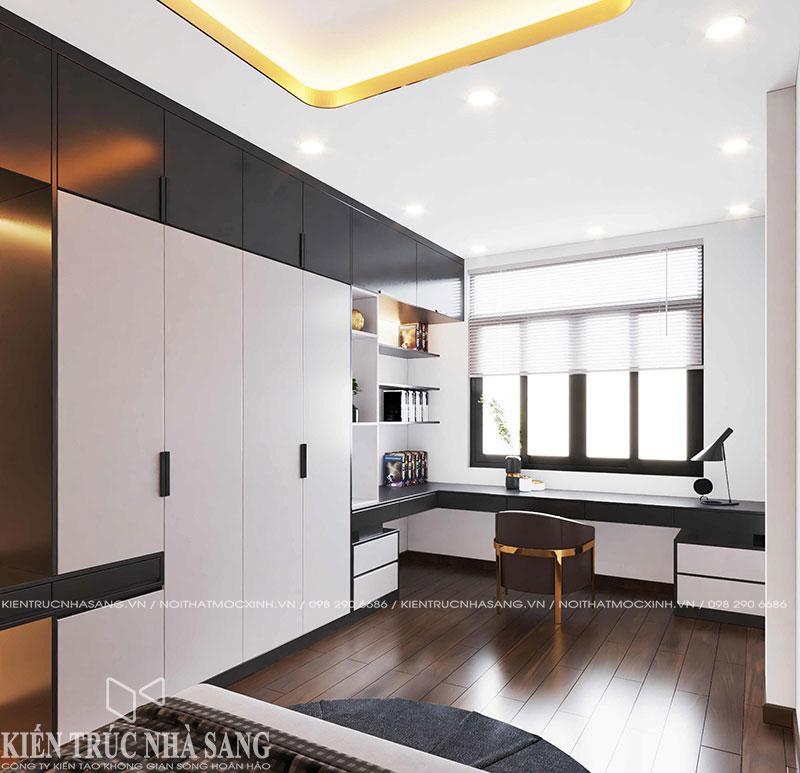 thiết kế nội thất phòng học luxury nhà phố 50m2