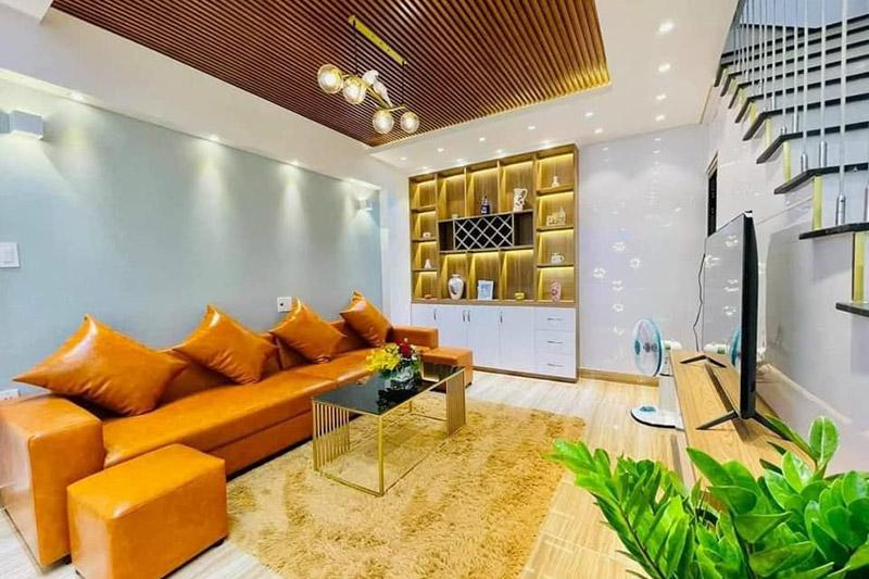 thiết kế nội thất phòng khách nhà 4.5x9m