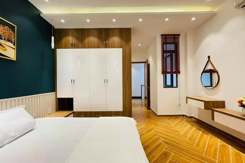 thiết kế nội thất phòng ngủ chính nhà 4.5x9m