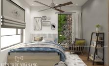 thiết kế nội thất phòng ngủ hiện đại nhà 60m2