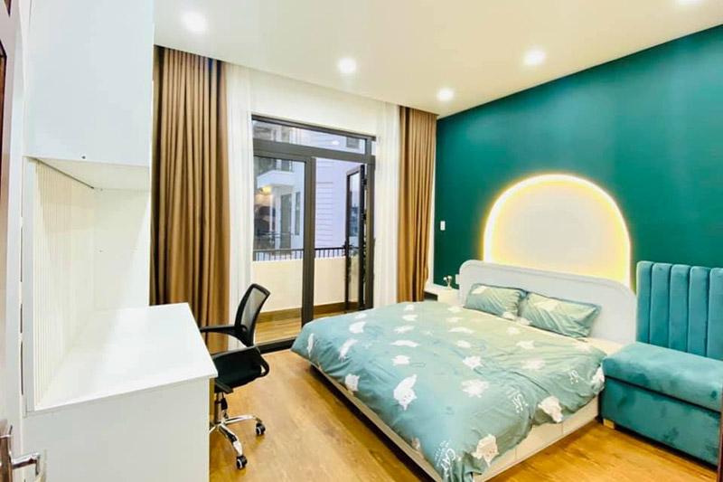 thiết kế nội thất phòng ngủ nhà 5x15m