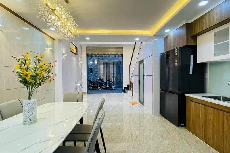 thiết kế nội thất tầng 1 nhà 3 tầng 4.5x9m
