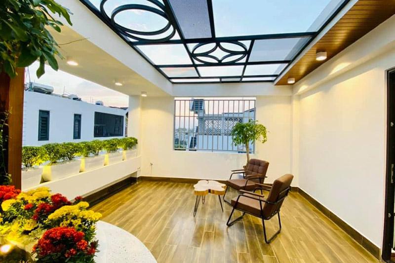 thiết kế sân thượng nhà phố 5x15m