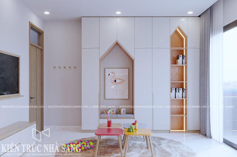 thiết kế thi công nội thất phòng học nhà phố hiện đại