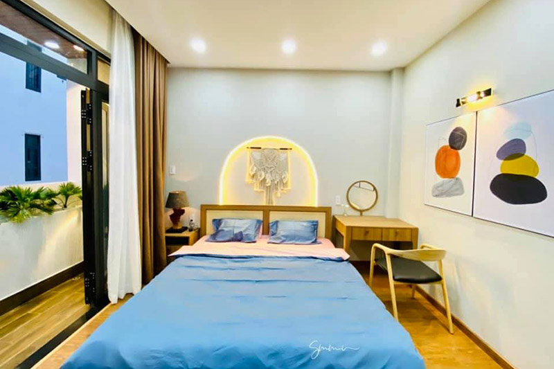 thiết kế thi công nội thất phòng ngủ nhỏ nhà 5x1m5